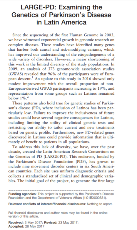 LARGE-PD_Examinig the Genetics of PD in Latam_first page pic